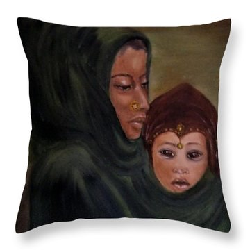 Throw Pillow featuring the painting Rachel And Joseph by Annemeet Hasidi- van der Leij