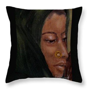 Rachel Throw Pillow by Annemeet Hasidi- van der Leij