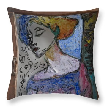 Rachel In Reverse Throw Pillow