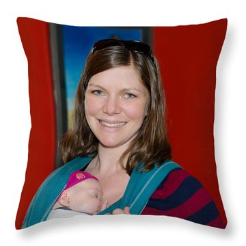 Rachel Madonna Throw Pillow