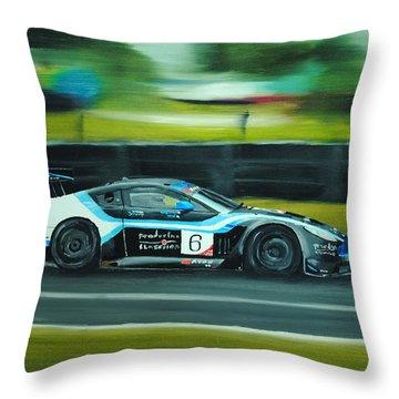Racing Car Throw Pillow by Nolan Clark