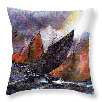 Racing Hookers Off Aran Throw Pillow