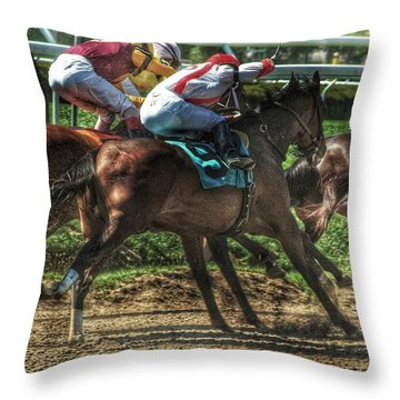 Racing Throw Pillow