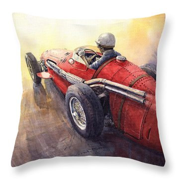 Racing Light Maserati 250 F Throw Pillow by Yuriy  Shevchuk