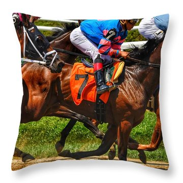 Racing Tight Throw Pillow