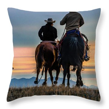 Racing To The Sun Wild West Photography Art By Kaylyn Franks Throw Pillow