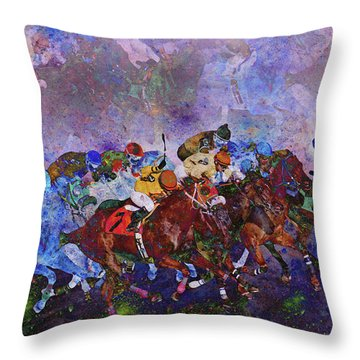 Racing With Ghosts Throw Pillow