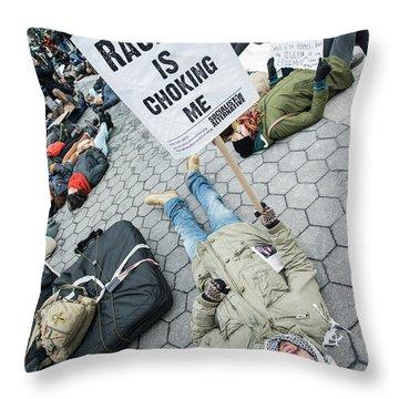 Racism Is Choking Me Throw Pillow