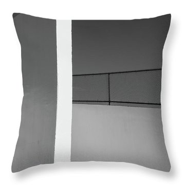 Throw Pillow featuring the photograph Racquetball Court   by Richard Rizzo