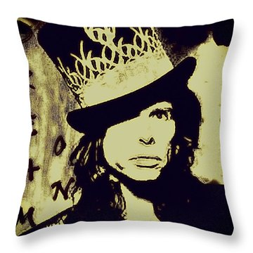 Rad Hatter Throw Pillow