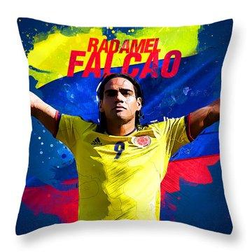 Radamel Falcao Throw Pillow
