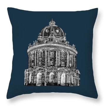 Throw Pillow featuring the digital art Radcliffe At Night by Elizabeth Lock