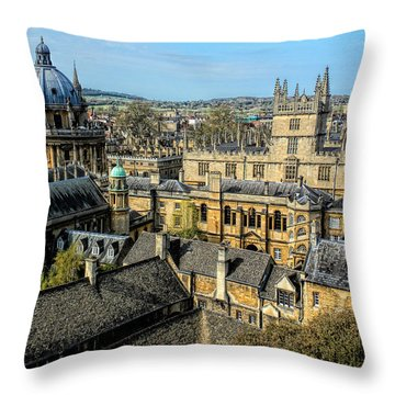 Radcliffe Camera And Bodleian Library Oxford Throw Pillow
