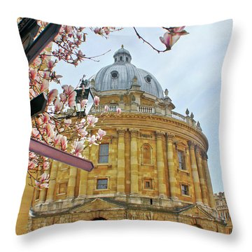 Radcliffe Camera Bodleian Library Oxford  Throw Pillow