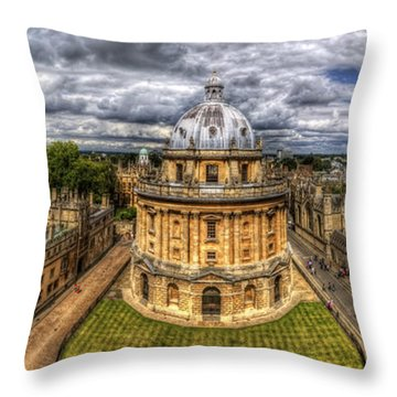 Radcliffe Camera Panorama Throw Pillow