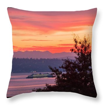 Radiance At Sunrise Throw Pillow