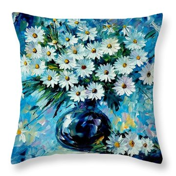 Radiance Throw Pillow by Leonid Afremov