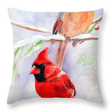 Radiance Of Cardinals Throw Pillow