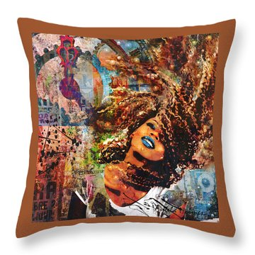 Radiant Throw Pillow by Angela Holmes
