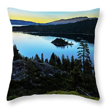 Radiant Sunrise On Emerald Bay Throw Pillow