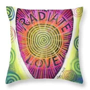 Radiate Love Throw Pillow
