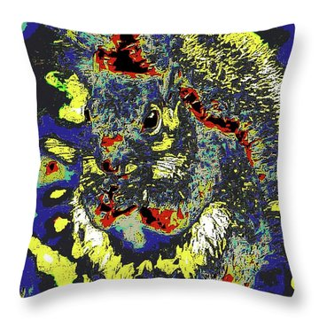 Radical Rodent Throw Pillow by DigiArt Diaries by Vicky B Fuller