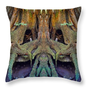 Radical Roots Throw Pillow