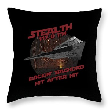 Radio Baghdad Throw Pillow