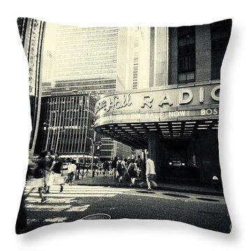 Radio City Music Hall Manhattan New York City Throw Pillow by Sabine Jacobs