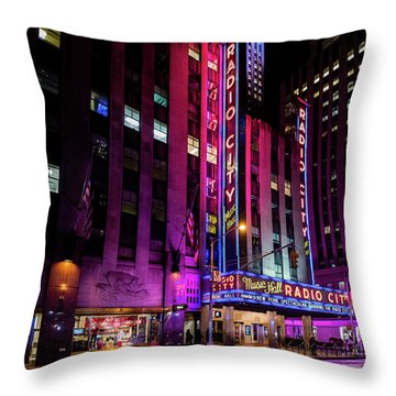 Throw Pillow featuring the photograph Radio City Music Hall by M G Whittingham