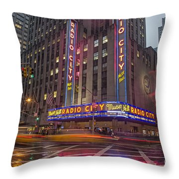 Throw Pillow featuring the photograph Radio City New York  by Juergen Held