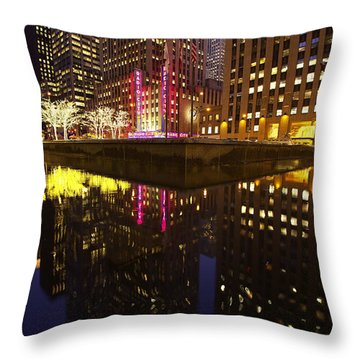 Radio City Reflection Throw Pillow