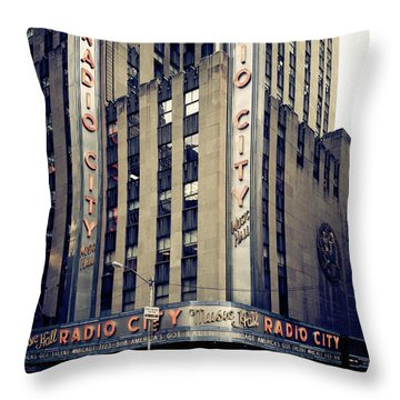 Radio City Throw Pillow