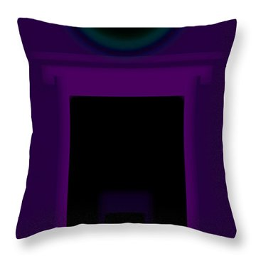 Radio Purple Palladio Throw Pillow by Charles Stuart