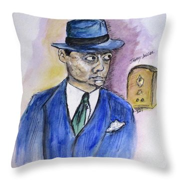 Radio's Johnny Dollar Throw Pillow