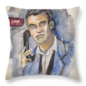 Radio's Philip Marlowe Throw Pillow