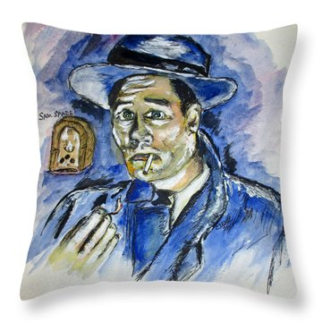 Radio's Sam Spade Throw Pillow