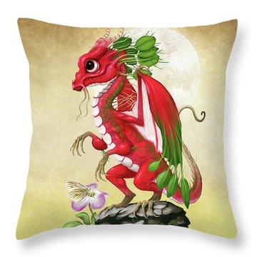 Radish Dragon Throw Pillow
