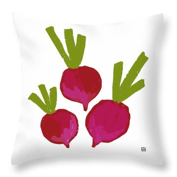 Radish Throw Pillow