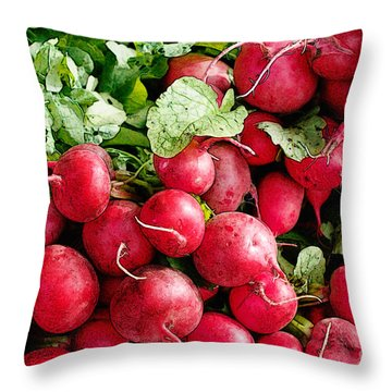 Radishes 1 Throw Pillow