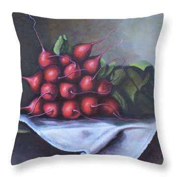 Radishes From The Garden Throw Pillow