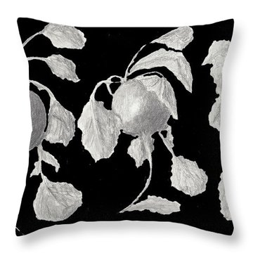 Radishes Throw Pillow by Quwatha Valentine