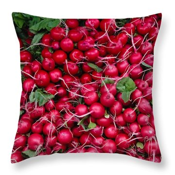Radishes Throw Pillow by Thomas Marchessault