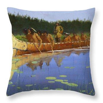 Radisson And Groseilliers Throw Pillow