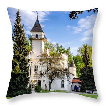 Radziejowice Castle Throw Pillow