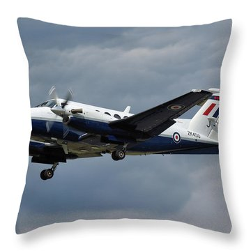 Throw Pillow featuring the photograph Raf Beech King Air 200  by Tim Beach