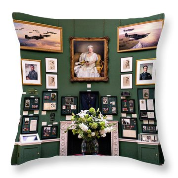 Throw Pillow featuring the photograph Raf Bentley Priory by Alan Toepfer