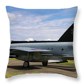 Throw Pillow featuring the photograph Raf English Electric Lightning F6 by Tim Beach