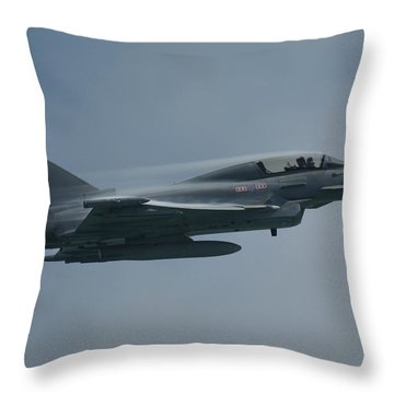 Throw Pillow featuring the photograph Raf Eurofighter Typhoon T1  by Tim Beach