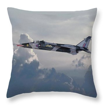 Throw Pillow featuring the photograph Raf Jaguar Gr1 by Pat Speirs